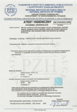 SANITARY CERTIFICATES PL